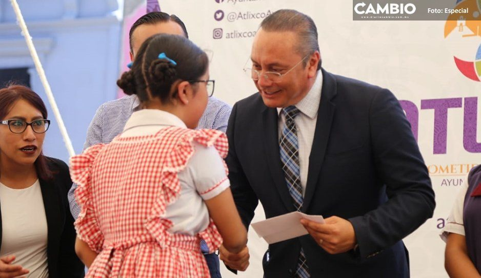 """Alcalde Memo Velázquez presenta programa  """"Estar bien para aprender mejor"""" en Atlixco"""