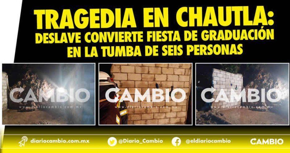 Tragedia en Chautla: deslave convierte fiesta de graduación en la tumba de seis personas(VIDEO)