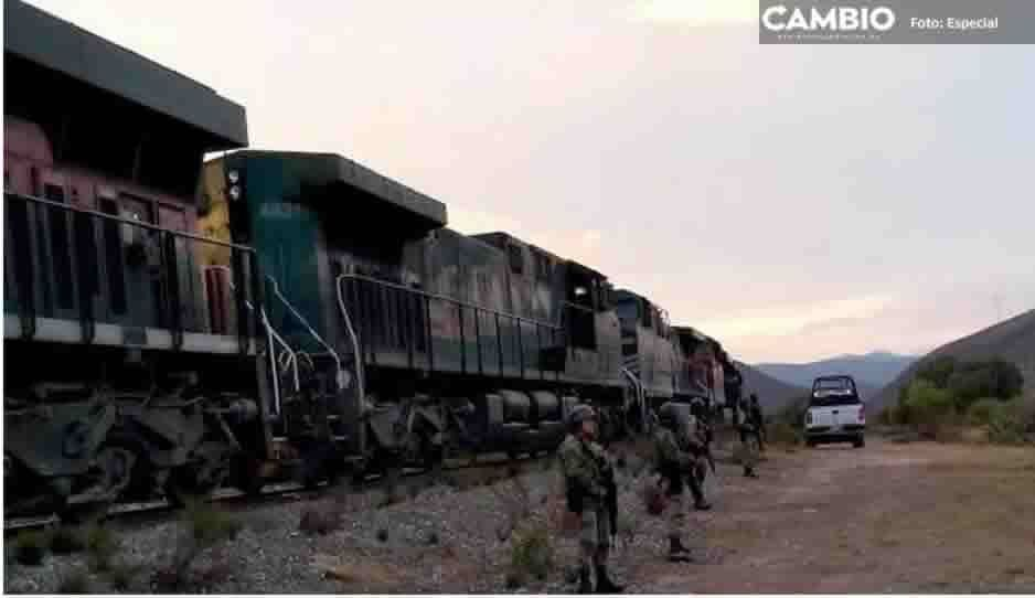 Guardia Nacional frustra robo a tren en Cañada Morelos