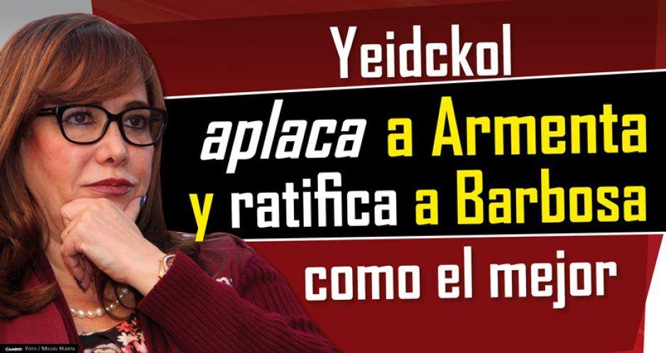 Yeidckol aplaca a Armenta y ratifica a Barbosa como el mejor (VIDEO)