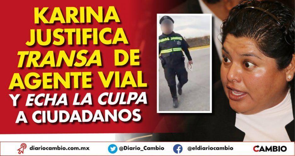 Karina Pérez justifica transa de agente vial de San Andrés y echa la culpa a ciudadanos