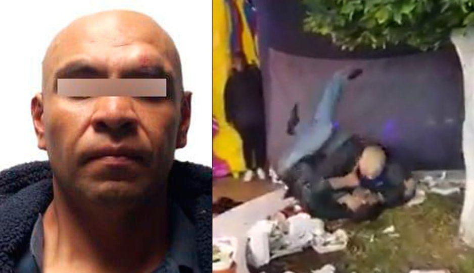 ¡HAY TIRO! El Tyson de Amozoc, hermano de regidora, ataca a mordidas y golpes a ciudadano (VIDEO)