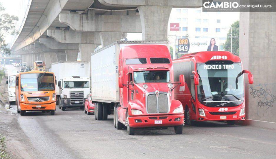 Transportistas alistan caravana sobre la México-Puebla