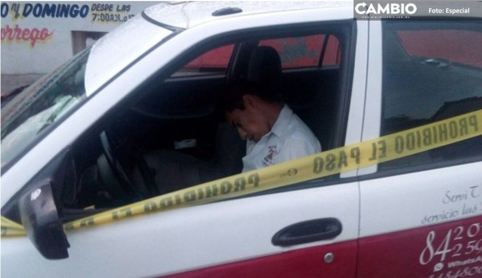 Encapuchados ejecutan a balazos a un taxista en Acatlán de Osorio
