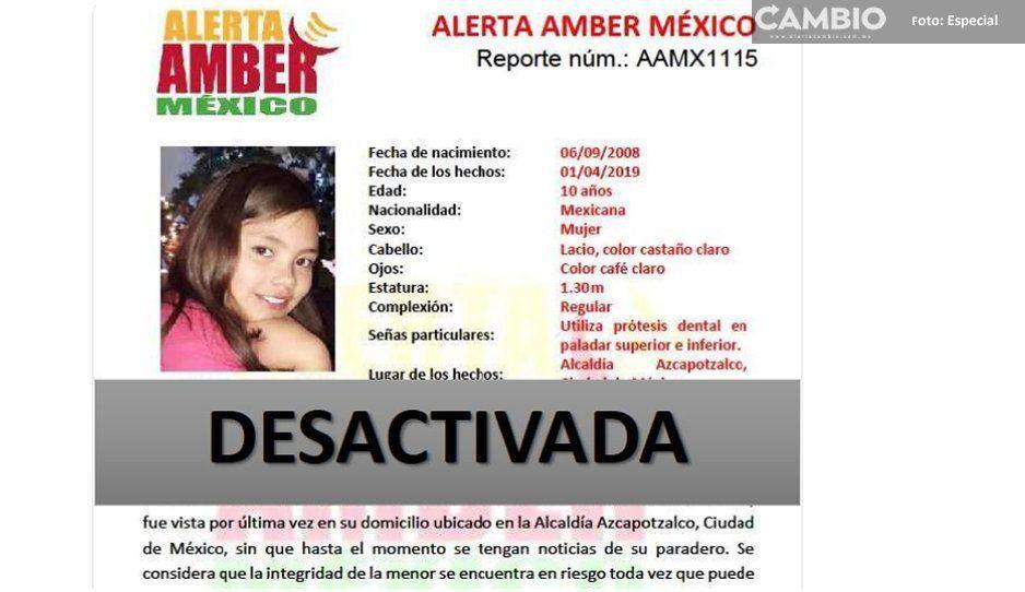 Se desactiva la #AlertaAmberMx de Nimbe Regina Roa Gama de 10 años