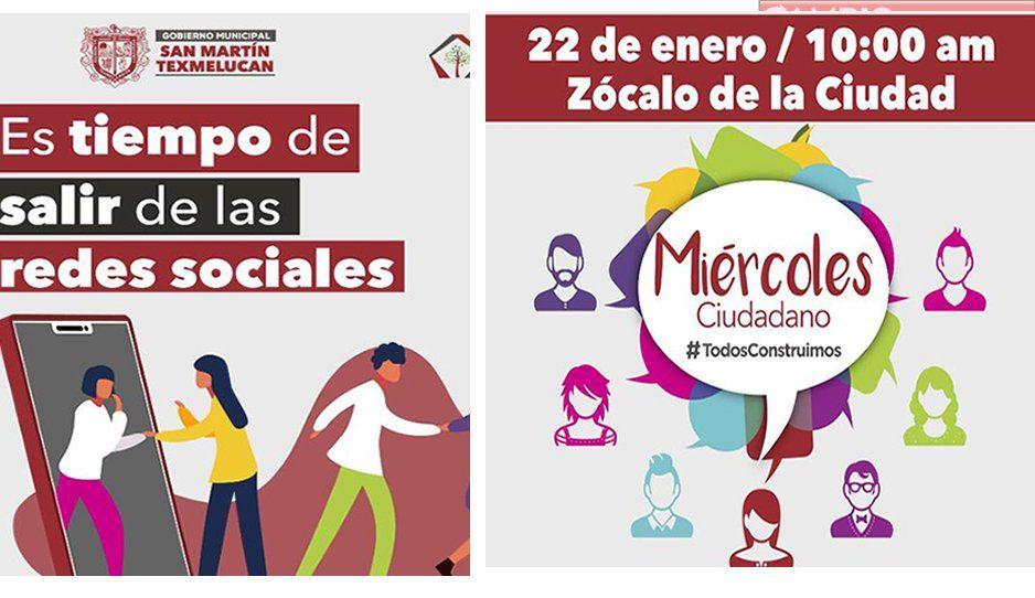 Ayuntamiento de Texmelucan invita a Miércoles Ciudadano