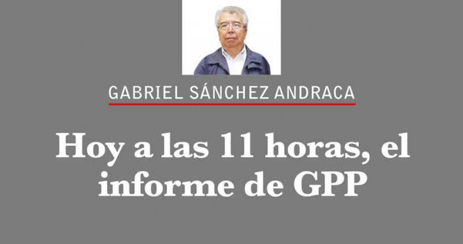 Hoy a las 11 horas, el informe de GPP