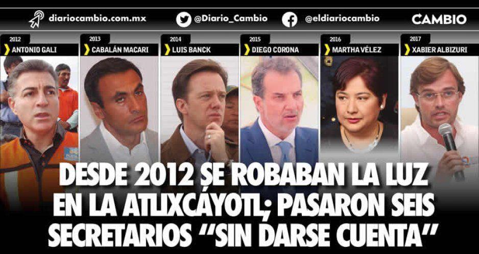 """Desde 2012 se robaban la luz en la Atlixcáyotl; pasaron seis secretarios """"sin darse cuenta"""""""