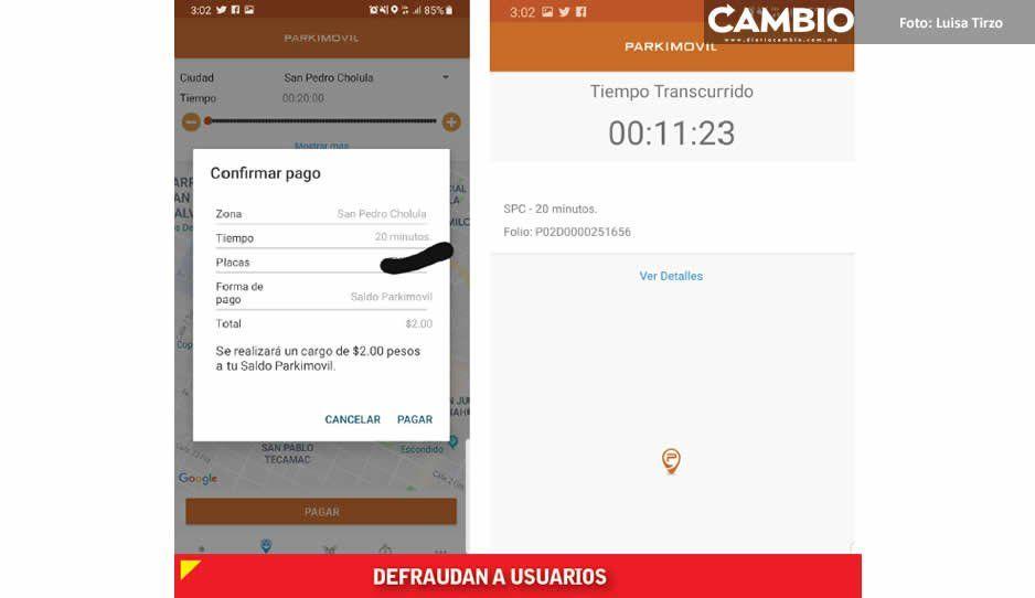 Sigue robo de Parkimovil a usuarios de San Pedro y San Andrés Cholula