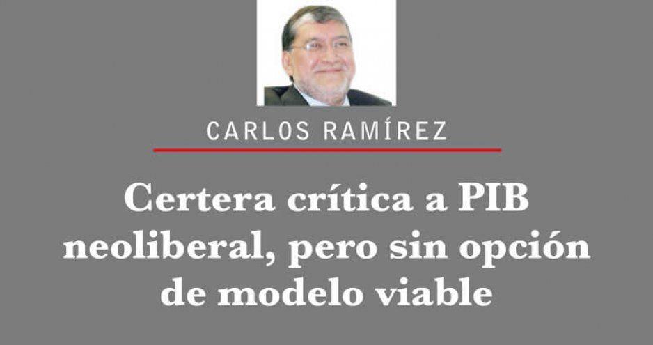 Certera crítica a PIB neoliberal, pero sin opción de modelo viable