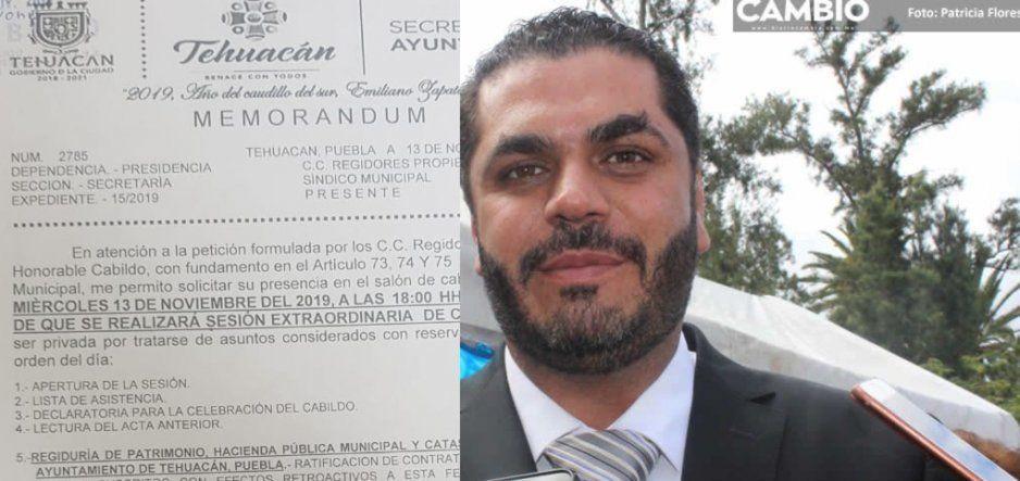 Regidores preparan destitución de director de la Policía Municipal y del Cereso de Tehuacán sin la presencia de Patjane