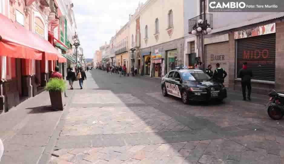 Segom limpia de ambulantes las calles del Centro Histórico durante el Buen Fin (FOTOS)