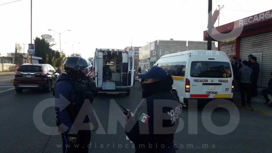 Balean unidad del transporte público en Texmelucan: una mujer lesionada