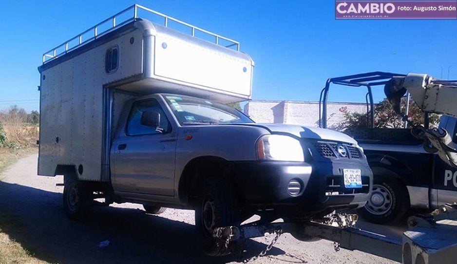 Roban camioneta en Tecamachalco y la recuperan en Tochtepec