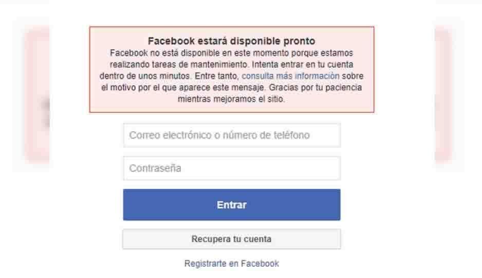 No eres tú, es Facebook; la plataforma reportó fallas esta mañana