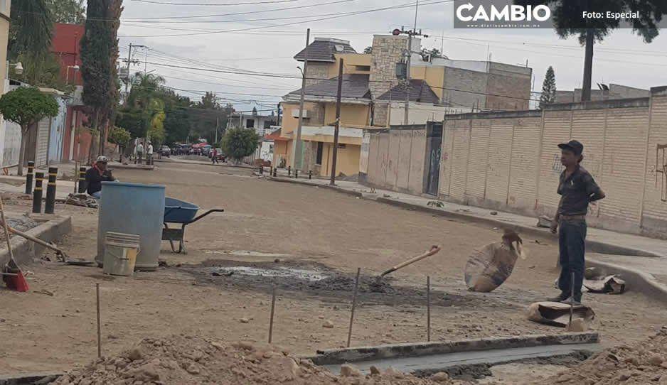 Patjane no cumple: obra pública continúa paralizada en Tehuacán