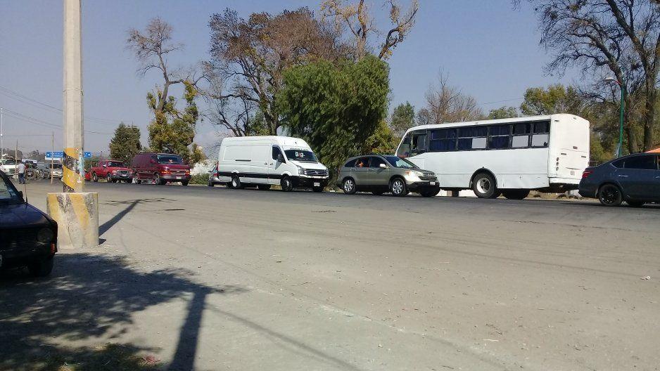 Comerciantes realizan operativo en Texmelucan para impedir extorsiones