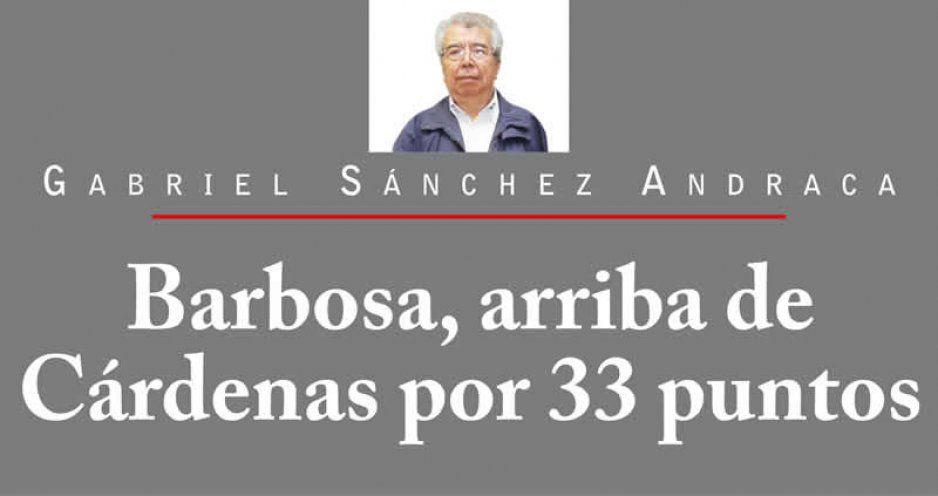 Barbosa, arriba de Cárdenas por 33 puntos