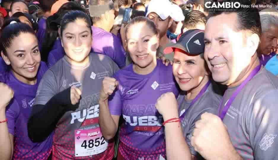 Con la participación de Claudia Rivera y Yadira Lira, arranca el Maratón Puebla (VIDEO)