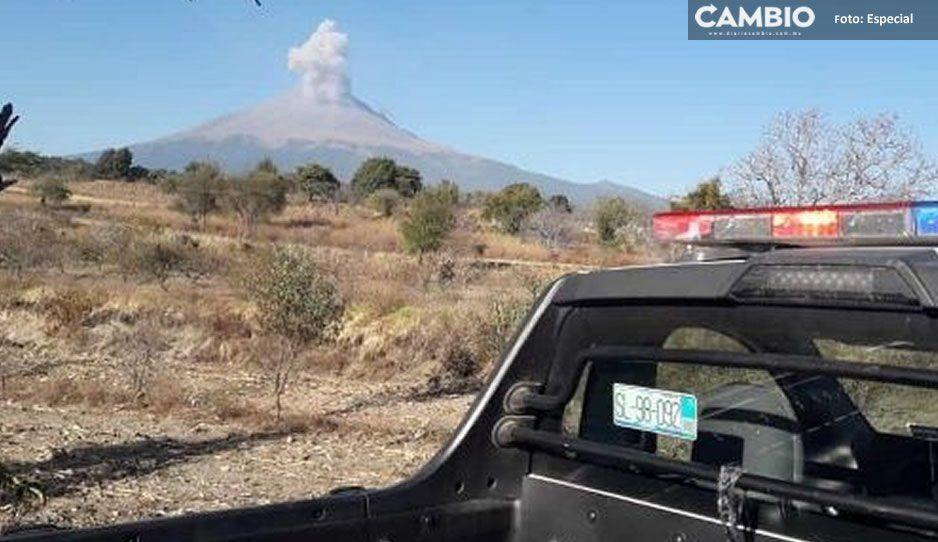 Alistan como albergues 150 escuelas cercanas al Popocatépetl por incremento de actividad