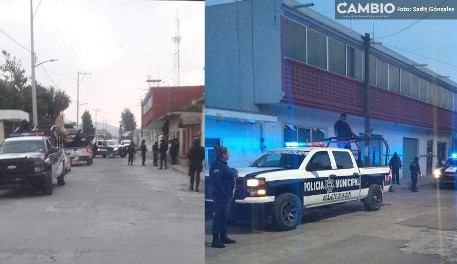 Pánico en Acajete: Se desata balacera en La Magdalena Tetela