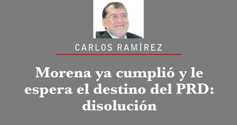 Morena ya cumplió y le espera el destino del PRD: disolución