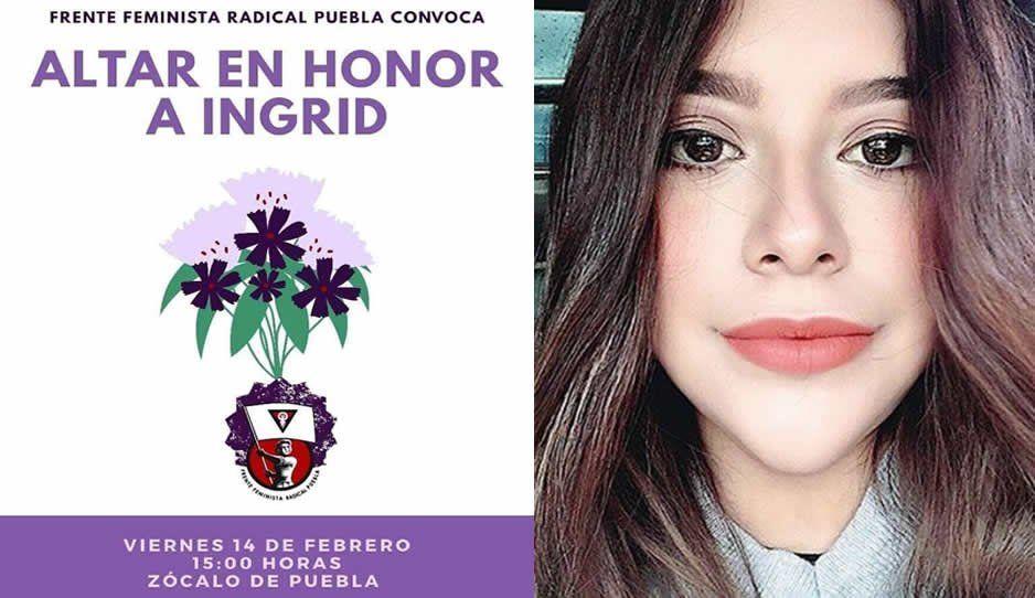 Feministas radicales podrán un altar en honor a Ingrid