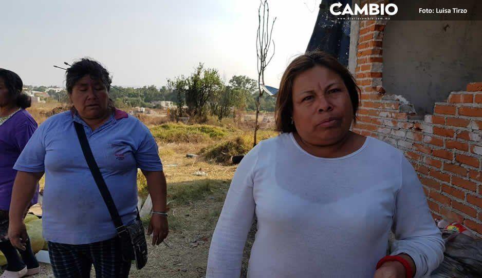 Inmobiliaria despoja a 10 familias de sus terrenos en Cuautlancingo