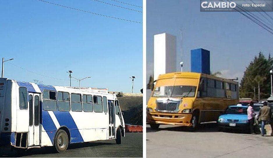 En pleno regreso a clases, atracan dos unidades del transporte público en Cuautlancingo y Cholula