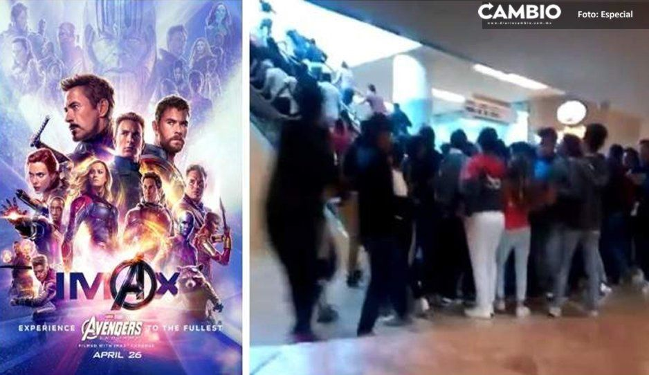 Avengers: Endgame: Venta de boletos provoca estampida humana en Angelópolis (VIDEO)
