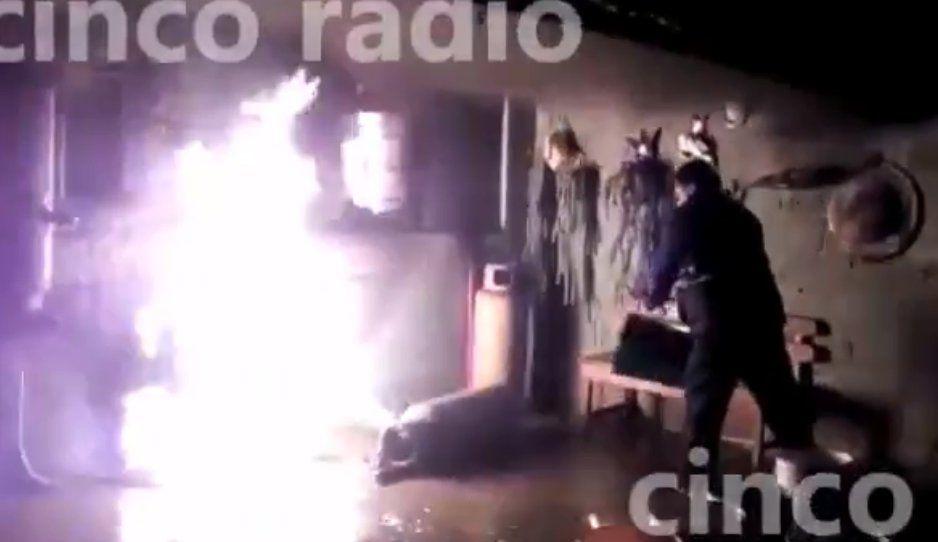 Le explotó el boiler y el tanque de gas en Acatzingo; tiene quemaduras en manos y cara