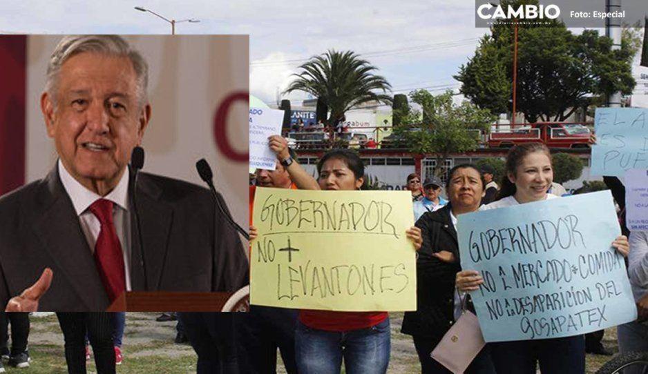 Ciudadanos organizan manifestación para la visita de AMLO a Texmelucan