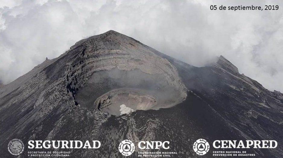 Guardia Nacional sobrevuela cráter del Popocatépetl (VIDEO)