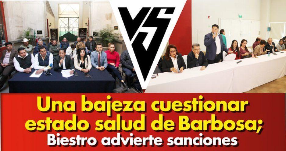 Una bajeza cuestionar estado salud de Barbosa; Biestro advierte sanciones