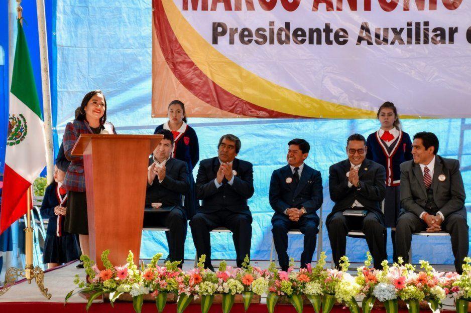 Lupita Daniel reafirma trabajo en unidad en Juntas Auxiliares