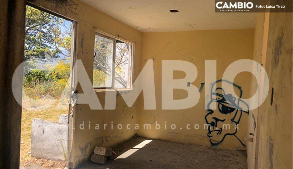 Con el Popo en Fase 3, albergue de Santiago Xalitzintla abandonado y en pésimas condiciones