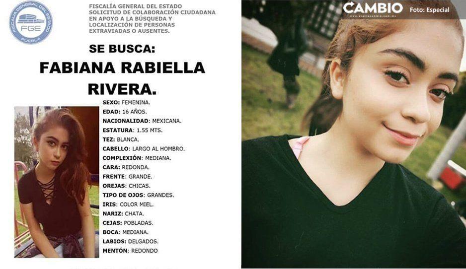 Sigue sin aparecer Fabiana Rabiella de 16 años ¡Ayuda a encontrarla!