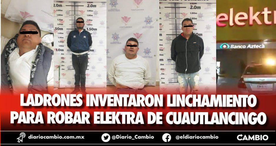 Ladrones inventaron linchamiento para robar Elektra de Cuautlancingo