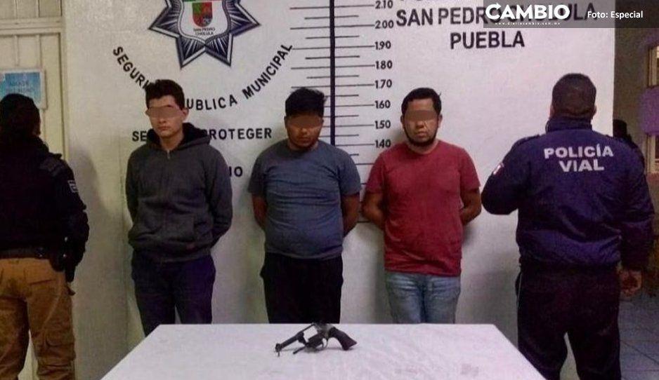 Detiene Secretaría de Seguridad de San Pedro  Cholula a cuatro presuntos narcomenudistas