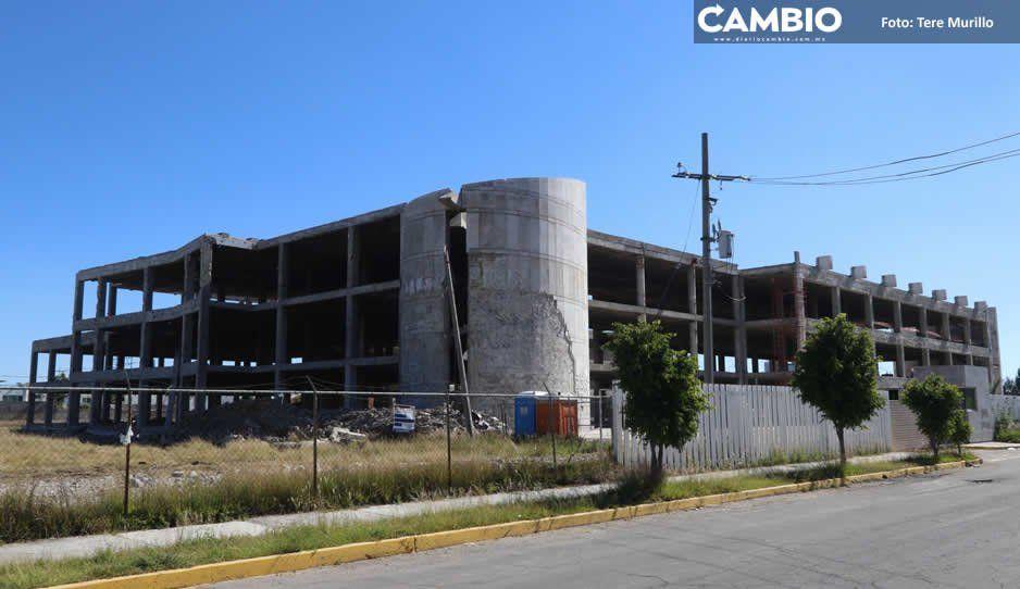 Paralizada, obra del nuevo Hospital San Alejandro en San Andrés Cholula