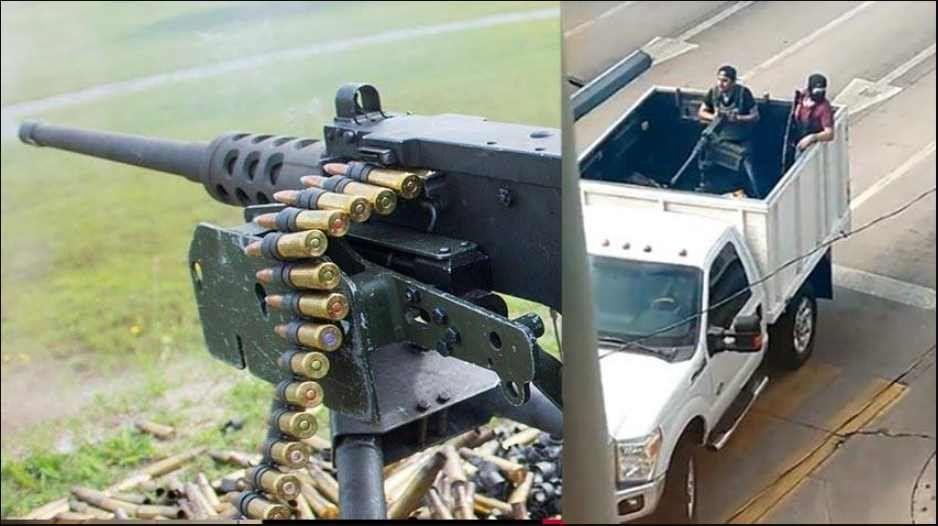 Cártel de Sinaloa intimidó a militares de AMLO con Browning M-2 del Ejército de Estados Unidos