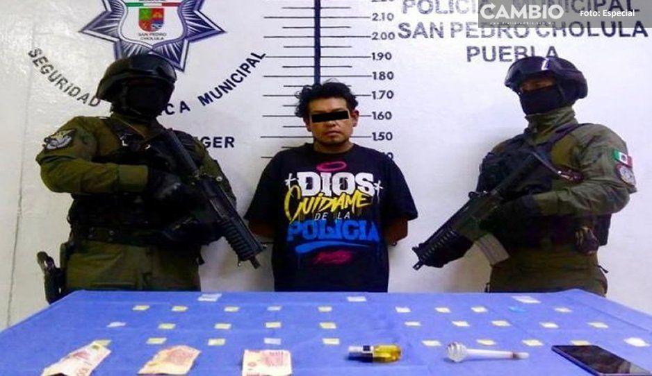 Cae narcomenudista en San Pedro Cholula