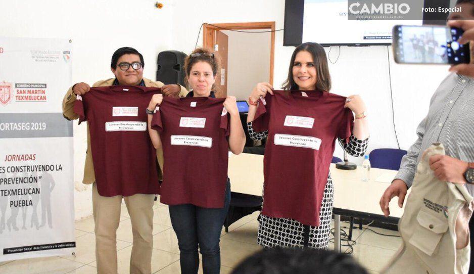 Alcaldesa Norma Layón pide a los jóvenes  comprometerse y trabajar por Texmelucan