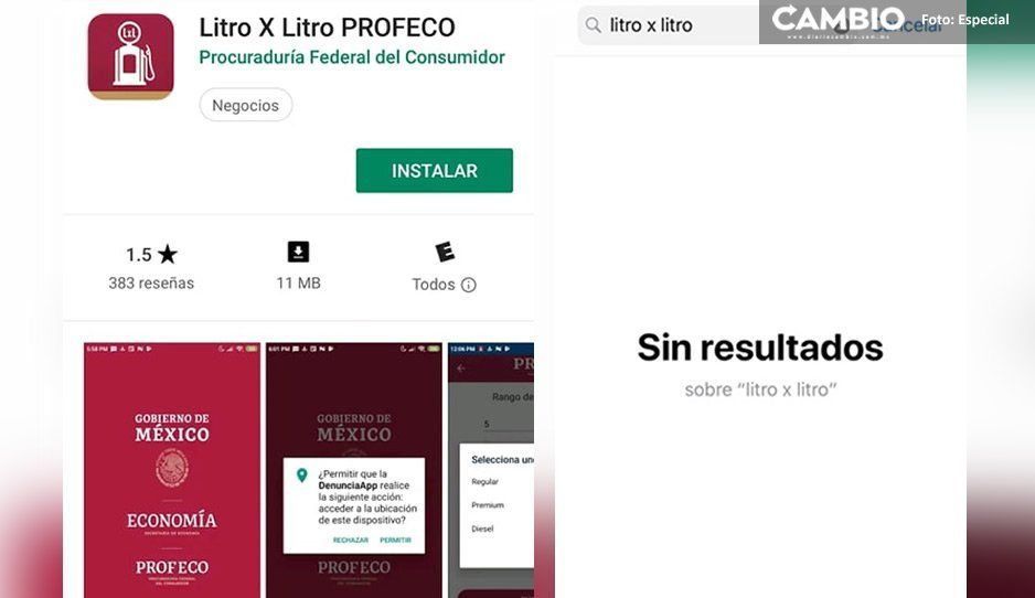 App Litro X Litro de Profeco sólo está disponible en Android, usuarios iOS tendrán que esperar