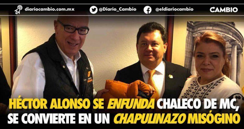Héctor Alonso se enfunda chaleco de MC, se convierte en un chapulinazo misógino
