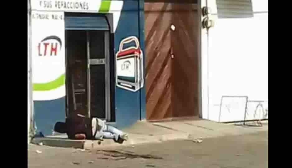 Balacera en pleno centro de Huejotzingo (FOTOS y fuerte VIDEO)