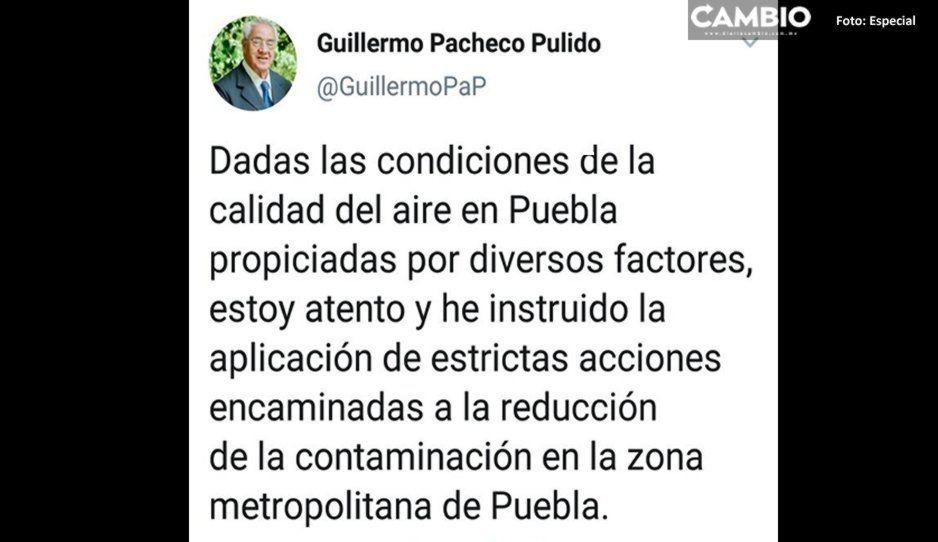 Gobernador interino pondrá en marcha medidas para reducir la contaminación en Puebla