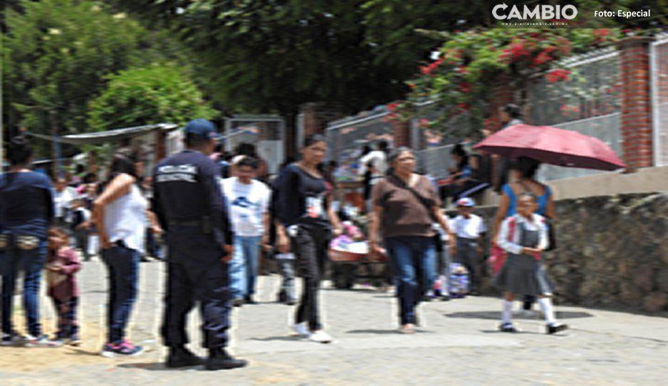 ¡Más vale previnir! realizan operativos de seguridad en escuelas de Tochimilco