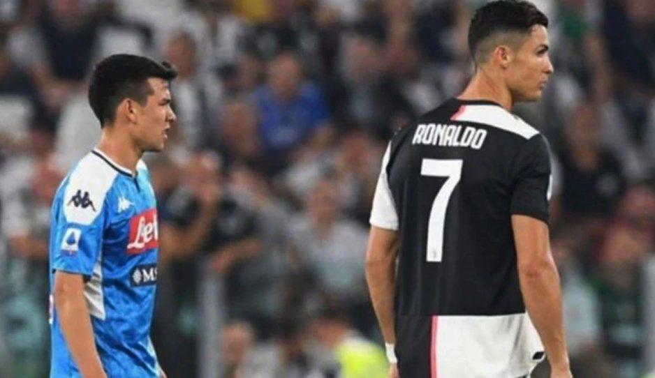 Cristiano  Ronaldo felicitó a Chucky por su gol y le dio la bienvenida a Italia