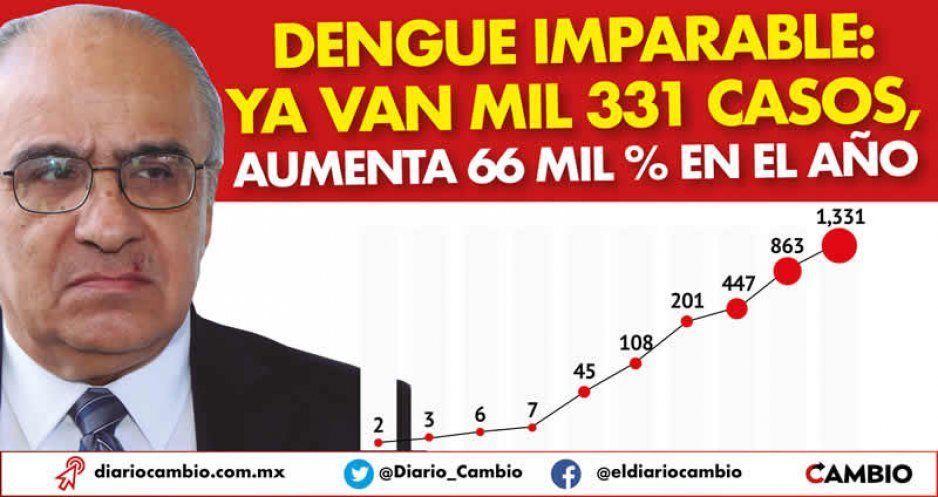 Dengue imparable: ya van mil 331 casos, aumenta 66 mil % en el año